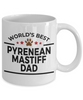 Pyrenean Mastiff Dog Lover Gift World's Best Dad Birthday Father's Day White Ceramic Coffee Mug