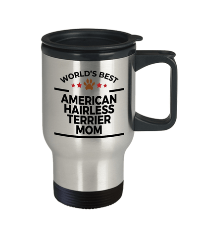 American Hairless Terrier Dog Lover Gift World's Best Mom Birthday Mother's Day Stainless Steel Insulated Travel Coffee Mug