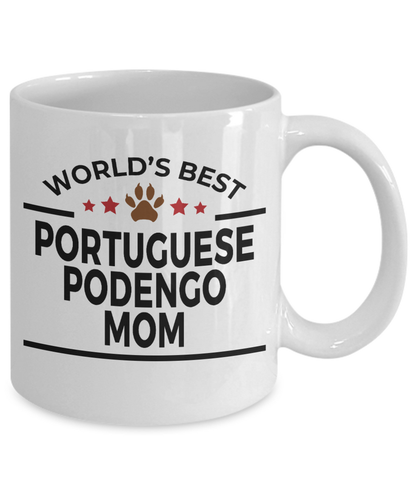 Portuguese Podengo Dog Lover Gift World's Best Mom Birthday Mother's Day White Ceramic Coffee Mug