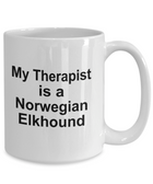 Norwegian Elkhound Dog Therapist Coffee Mug