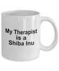 Shiba Inu Dog Owner Lover Funny Gift Therapist White Ceramic Coffee Mug