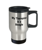 Beagle Dog Owner Lover Funny Gift Therapist Stainless Steel Insulated Travel Coffee Mug