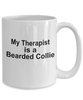 Bearded Collie Dog Owner Lover Funny Gift Therapist White Ceramic Coffee Mug