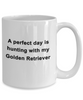 Golden Retriever Hunting Dog Lover Perfect Day Gift White Ceramic Coffee Mug