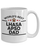 Lhasa Apso Dog Lover Gift World's Best Dad Birthday Father's Day White Ceramic Coffee Mugffee Mug