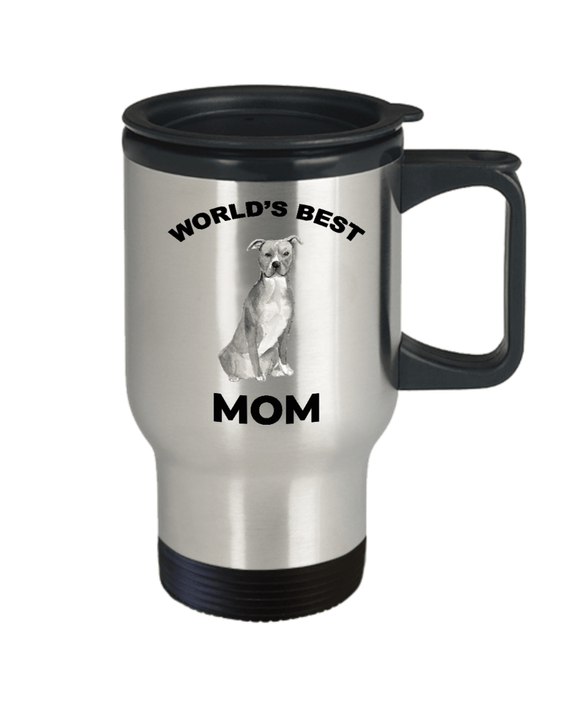 American Staffordshire Terrier Best Dog Mom Travel Mug