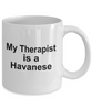 Havanese Dog Owner Lover Funny Gift Therapist White Ceramic Coffee Mug
