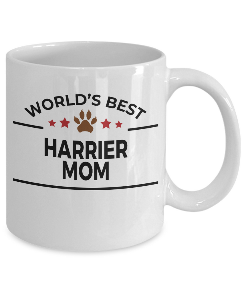 Harrier Dog Lover Gift World's Best Mom Birthday Mother's Day White Ceramic Coffee Mug