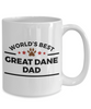 Great Dane Dog Lover Coffee Mug Gift World's Best Dad