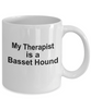 Funny Basset Hound Dog Lover Gift Therapist White Ceramic Coffee Mug
