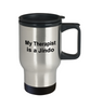 Jindo Dog Owner Lover Funny Gift Therapist Stainless Steel Insulated Travel Coffee Mug