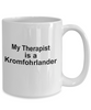 Kromfohrlander Dog Owner Lover Funny Gift Therapist White Ceramic Coffee Mug