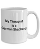 German Shepherd Dog Lover Gift Funny Therapist White Ceramic Coffee Mug