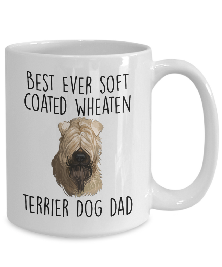 Best Ever Soft Coated Wheaten Terrier Dog Dad Ceramic Coffee Mug