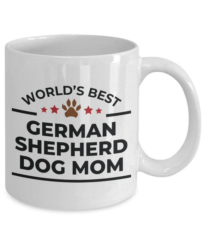 World's Best German Shepherd Dog Mom White Ceramic Mug