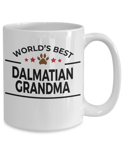 Dalmatian Dog Lover Gift World's Best Grandma Birthday Mother's Day White Ceramic Coffee Mug