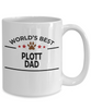 Plott Dog Lover Gift World's Best Dad Birthday Father's Day White Ceramic Coffee Mug