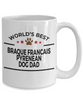 Braque Francais Pyrenean Dog Lover Gift World's Best Dad Birthday Father's Day White Ceramic Coffee Mug