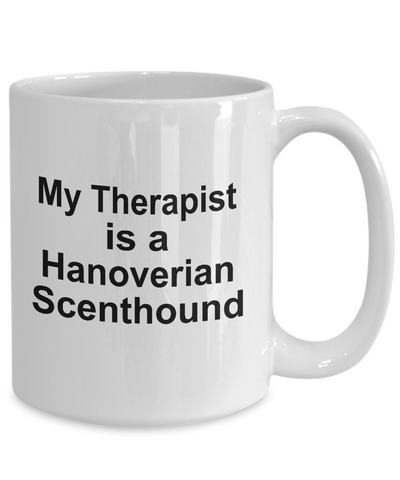 Hanoverian Scenthound Dog Owner Lover Funny Gift Therapist White Ceramic Coffee Mug