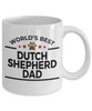 Dutch Shepherd Dog Lover Gift World's Best Dad Birthday Father's Day White Ceramic Coffee Mug