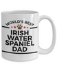 Irish Water Spaniel Dog Lover Gift World's Best Dad Birthday Father's Day White Ceramic Coffee Mug
