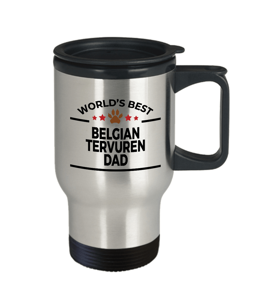 Belgian Tervuren Dog Dad Travel Coffee Mug