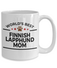 Finnish Lapphund Dog Lover Gift World's Best Mom Birthday Mother's Day White Ceramic Coffee Mug