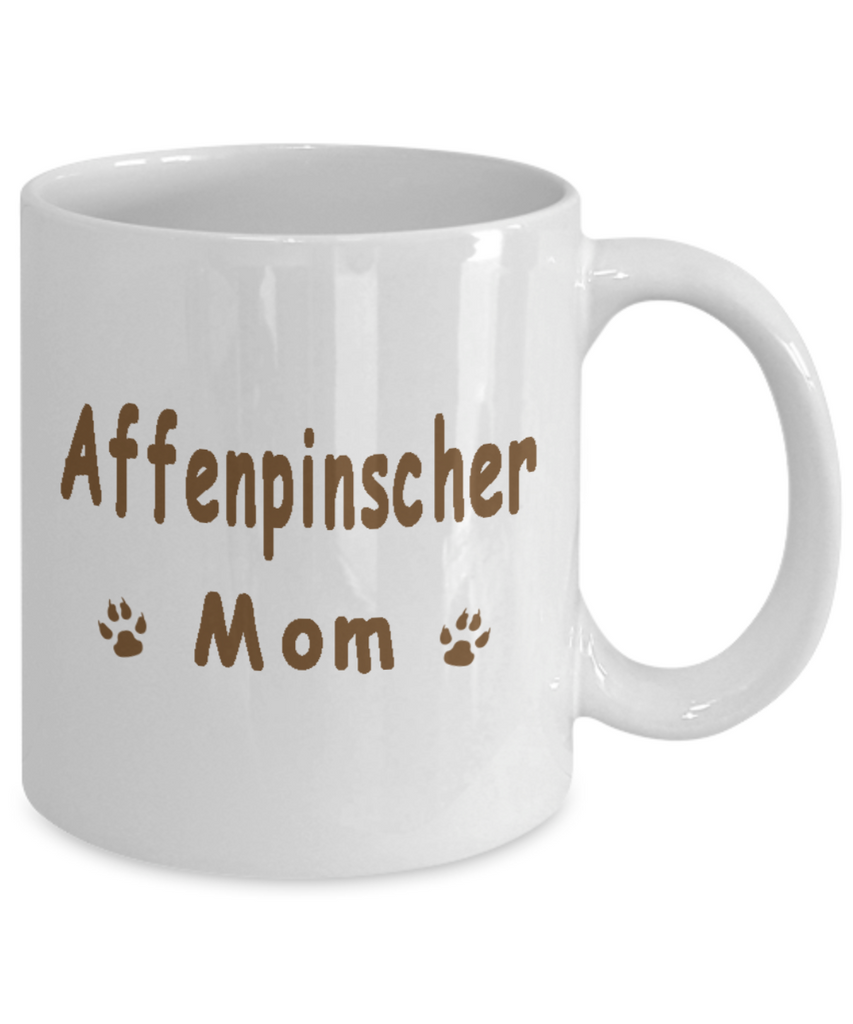My Kid Has Paws, Affenpinscher Mom White Mug