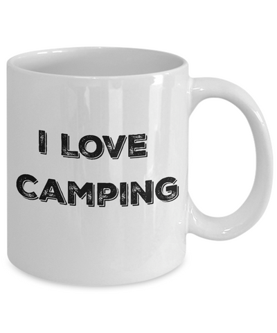 I Love Camping White Ceramic Coffee Mug