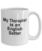 English Setter Dog Therapist Mug