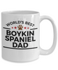Boykin Spaniel Dog Lover Gift World's Best Dad Birthday Father's Day White Ceramic Coffee Mug