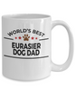Eurasier Dog Lover Gift World's Best Dad Birthday Father's Day White Ceramic Coffee Mug