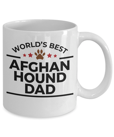 Afghan Hound Dog Lover Gift World's Best Dad Birthday Father's Day White Ceramic Coffee Mug