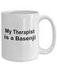 Basenji Dog Owner Lover Funny Gift Therapist White Ceramic Coffee Mug