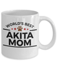 Akita Dog Lover Gift World's Best Mom Birthday Mother's Day White Ceramic Coffee Mug