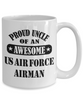 US Air Force Airman Proud Uncle Coffee Mug