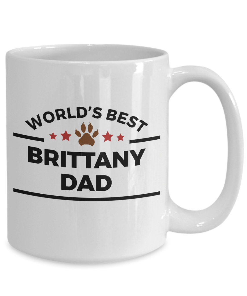 Brittany Dog Dad Coffee Mug