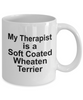Soft Coated Wheaten Terrier Dog Owner Lover Funny Gift Therapist White Ceramic Coffee Mug