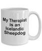 Icelandic Sheepdog Dog Owner Lover Funny Gift Therapist White Ceramic Coffee Mug