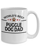 Puggle Lover Gift World's Best Dog Dad White Ceramic Coffee Mug