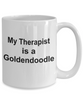 Goldendoodle Dog Owner Lover Funny Gift Therapist White Ceramic Coffee Mug