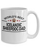 Icelandic Sheepdog Lover Gift World's Best Dad Birthday Father's Day White Ceramic Coffee Mug