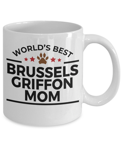 Brussels Griffon Dog Lover Gift World's Best Mom Birthday Mother's Day White Ceramic Coffee Mug