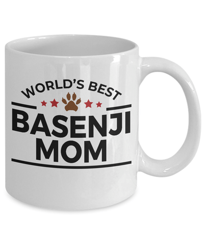 Basenji Dog Lover Gift World's Best Mom Birthday Mother's Day White Ceramic Coffee Mug