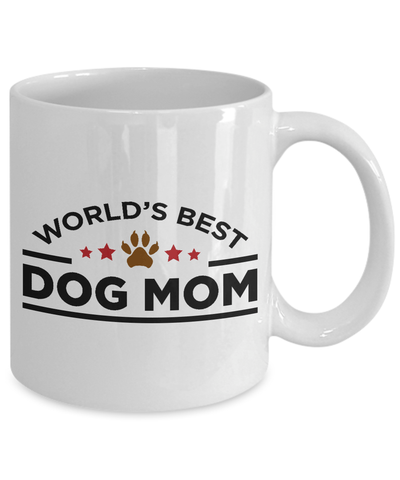 World's Best Dog Mom White Ceramic Mug