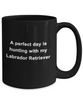 Labrador Retriever Hunter Black Coffee Mug