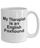 English Foxhound Dog Therapist Mug