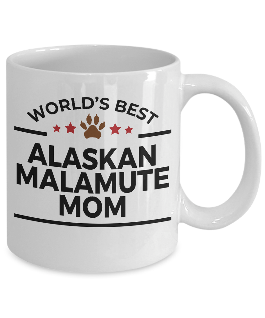 Alaskan Malamute Dog Lover Gift World's Best Mom Birthday Mother's Day White Ceramic Coffee Mug