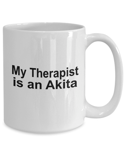 Akita Dog Owner Lover Funny Gift Therapist White Ceramic Coffee Mug