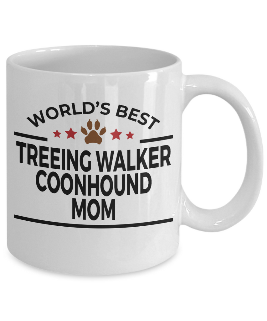 Treeing Walker Coonhound Dog Lover Gift World's Best Mom Birthday Mother's Day White Ceramic Coffee Mug